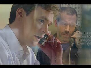 обои Хаус говорит по телефону с Вильсоном фото