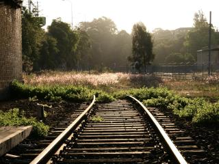 обои Железнодорожные рельсы фото