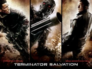 обои Terminator Salvation - Christian Bale and Sam Worthington фото