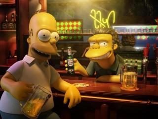 обои Гомер симпсон в баре фото