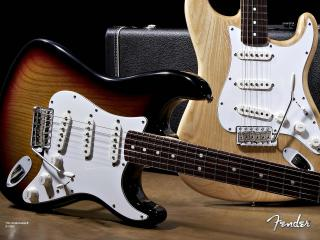 обои Две красивые гитары фото