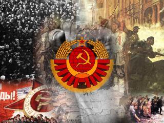 обои Советский коллаж фото