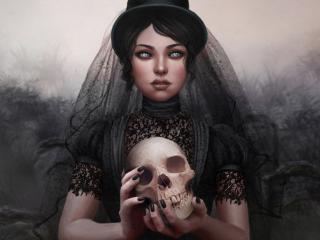 обои Черная вдова фото
