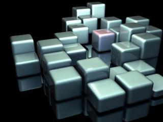 обои Упорядочено рассыпаные кубики фото