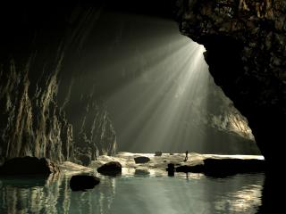 обои Подземная река в гроте фото