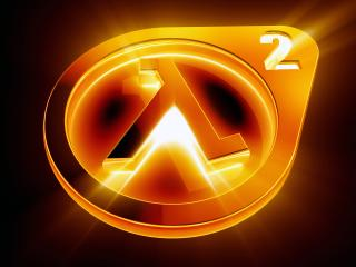 обои Светящейся логотип Half-Life фото