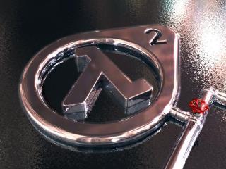 обои Логотип Half-Life 2 в воде фото