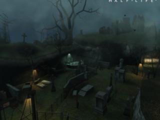 обои Half-Life 2 кладбище фото