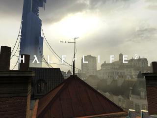 обои Half-Life 2 вид на цитадель фото