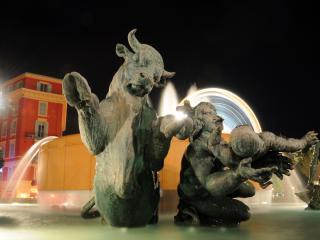 обои Фонтан со скульптурами фото