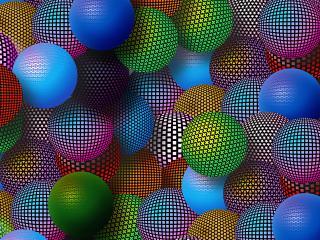 обои Разноцветные шарики фото