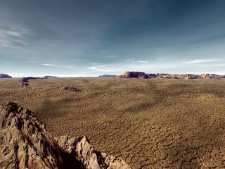 обои Пустынный пейзаж чужой планеты фото