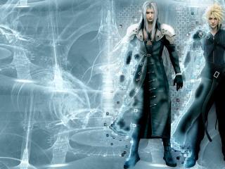 обои Final Fantasy VII: Advent Children - два парня фото