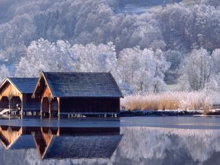 обои Дома у воды фото