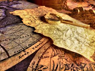 обои Старые карты Карта сокровищ фото