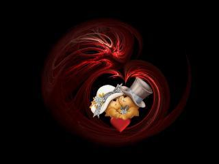 обои Два мишки с сердечком фото