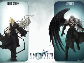обои Cloud Strife и Sephiroth фото