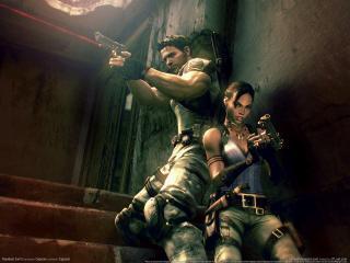 обои Resident Evil - парень и девушка фото