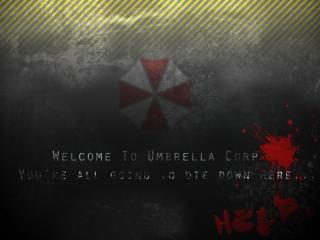 обои Resident Evil - слова на стене фото