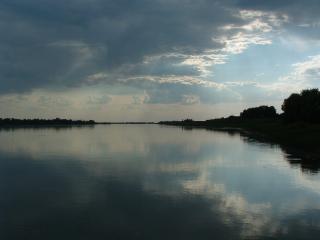 обои Небо и река фото