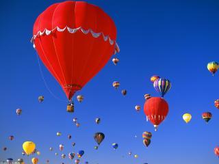 обои Путешествие на воздушных шарах фото