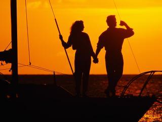 обои Романтическая прогулка на яхте фото