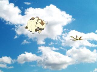 обои Avatar - 2 летающих животных в небе фото