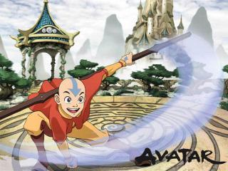 обои Avatar - лысый парень со стрелкой на голове фото
