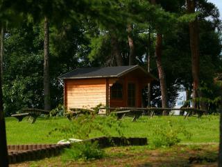 обои Дом отдыха в лесу фото