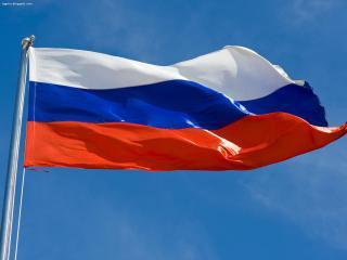 обои для рабочего стола: Развевающийся флаг России