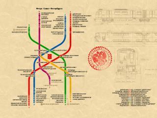 обои Метро Санкт-Петербурга карта фото