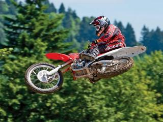 обои Sport Motocross в прыжке фото