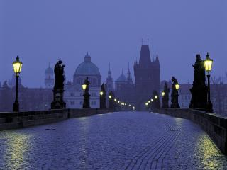 обои Prague at Dusk,  Czech Republic фото