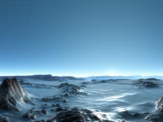 обои Ледяная пустыня фото