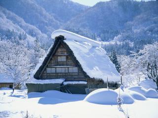 обои Дом в снегу фото