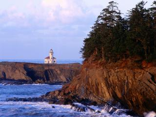 обои Cape Arago Lighthouse,  Coos County,  Oregon фото