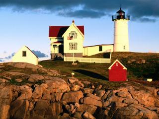 обои Nubble Lighthouse,  Cape Neddick,  York,  Maine фото
