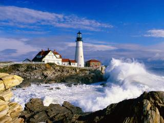обои Portland Head Light,  Cape Elizabeth,  Maine фото