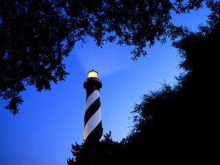 обои St. Augustine Lighthouse at Twilight,  Florida фото