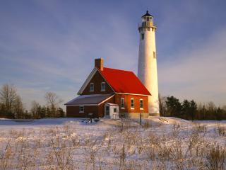 обои Tawas Point Lighthouse,  Iosco County,  Michigan фото