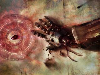 обои FullMetal Alchemist - Сломаная металическая рука фото