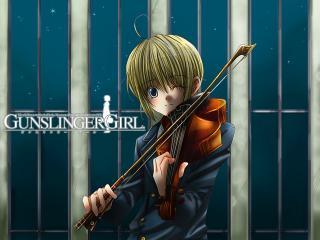 обои Gunslinger Girl - Играет мелодию фото