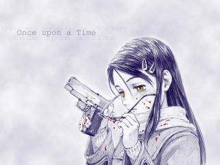 обои Gunslinger Girl - Кровавая девушка с пистолетом фото