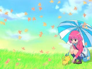 обои ToraDora - Минори под зонтиком фото