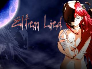 обои Elfen Lied - Люси и луна фото