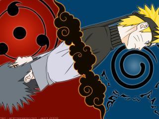 обои Naruto - Учиха Саске и Узумаки Наруто фото