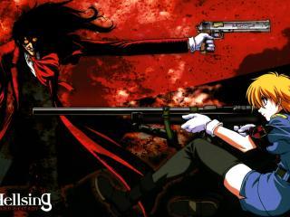 обои Hellsing - Вампиры с оружием фото