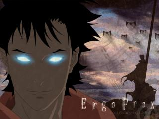обои Ergo Progxy - Парень со светящимися глазами фото