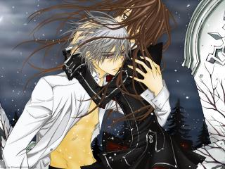 обои Vampire Knight - Вампир и человек фото