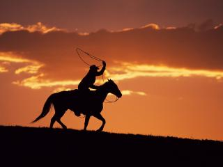обои Wrangler at Sunset,   Montana фото